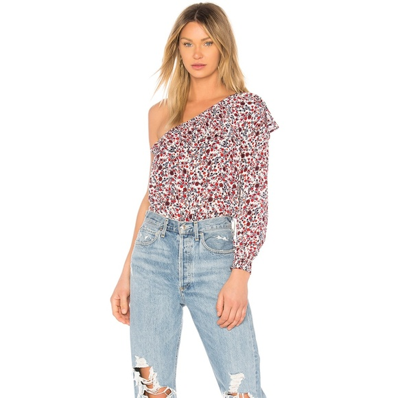 452aaeb735072e BB Dakota one shoulder summer blouse